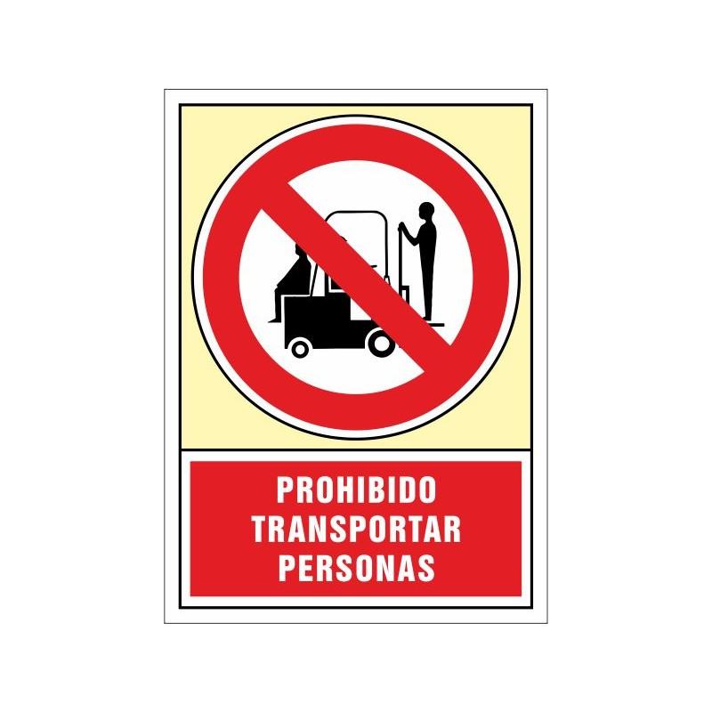 3050S-Señal Prohibido transportar personas - Referencia 3050S
