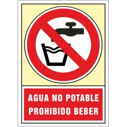 SYSSA, Senyal  Aigua no potable. Prohibit beure
