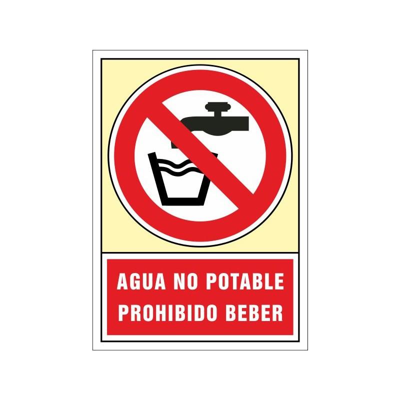 3052S-Aigua no potable. Prohibit beure