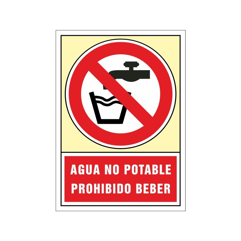 3052S-Senyal Aigua no potable Prohibit beure - Referència 3052S