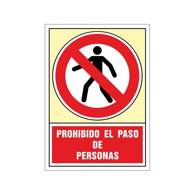 3053S-Senyal Prohibit el pas de persones - Referència 3053S