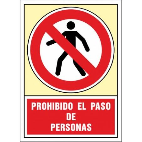 Prohibido el paso de personas