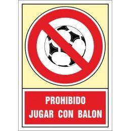 SYSSA, Senyal  Prohibit jugar a pilota