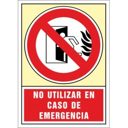 SYSSA,Señal No utilizar en caso de emergencia