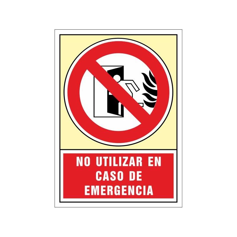 3060S-Señal de No utilizar en caso de emergencia - Referencia 3060