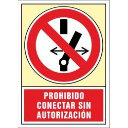 SYSSA,Señal Prohibido conectar sin autorización