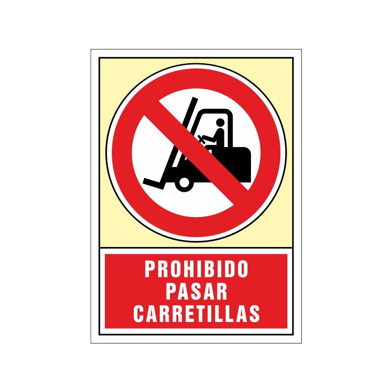 3062S-Prohibit passar carretons