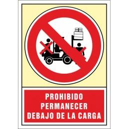 SYSSA,Señal Prohibido permanecer debajo de la carga