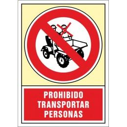 SYSSA, Senyal  Prohibit transportar persones