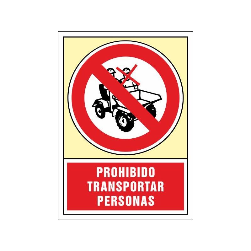 3064S-Senyal Prohibit transportar persones - Referència 3064S