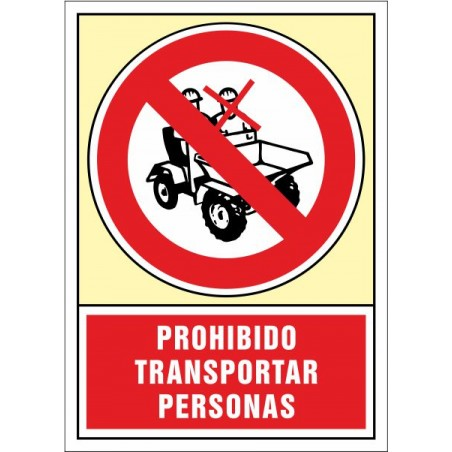Prohibit transportar persones