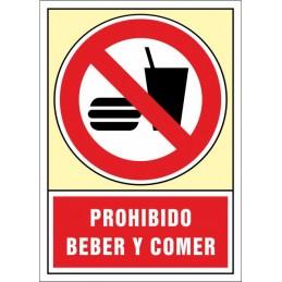 SYSSA,Señal Prohibido beber y comer