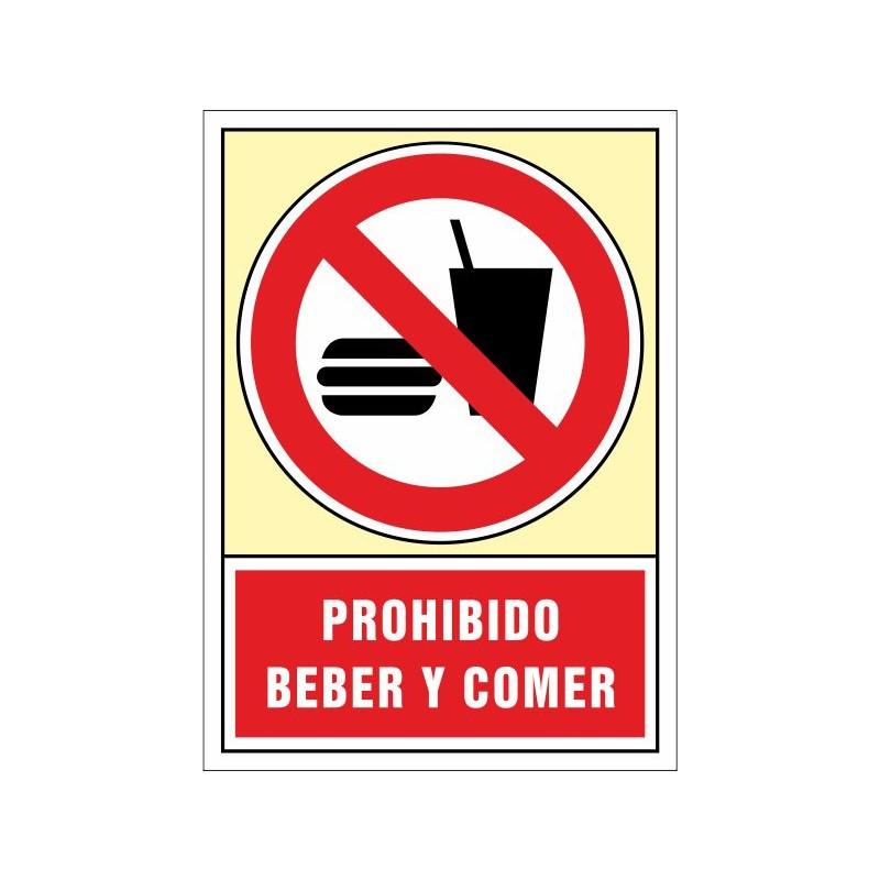 3071S-Senyal de Prohibit beure i menjar - Referència 3071S