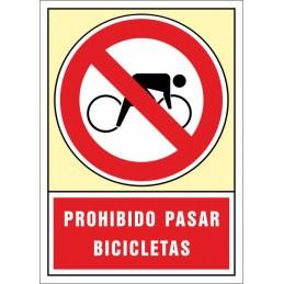 SYSSA,Señal Prohibido pasar bicicletas