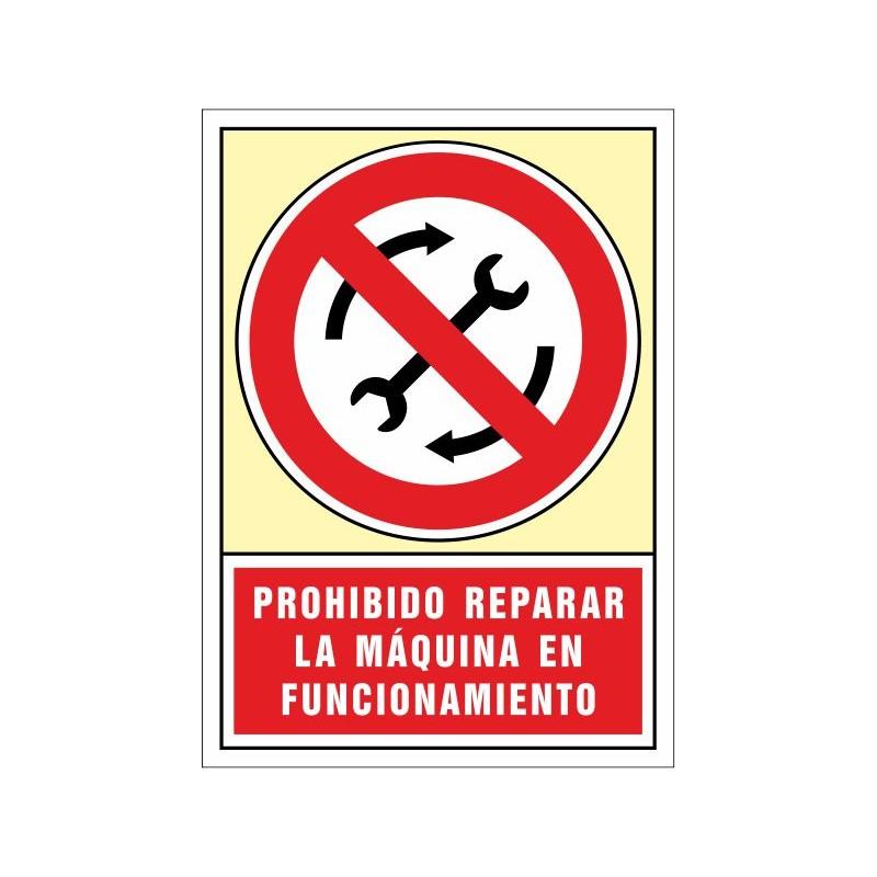 3073S-Prohibit reparar la màquina en funcionament