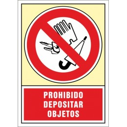 SYSSA,Señal Prohibido depositar objetos
