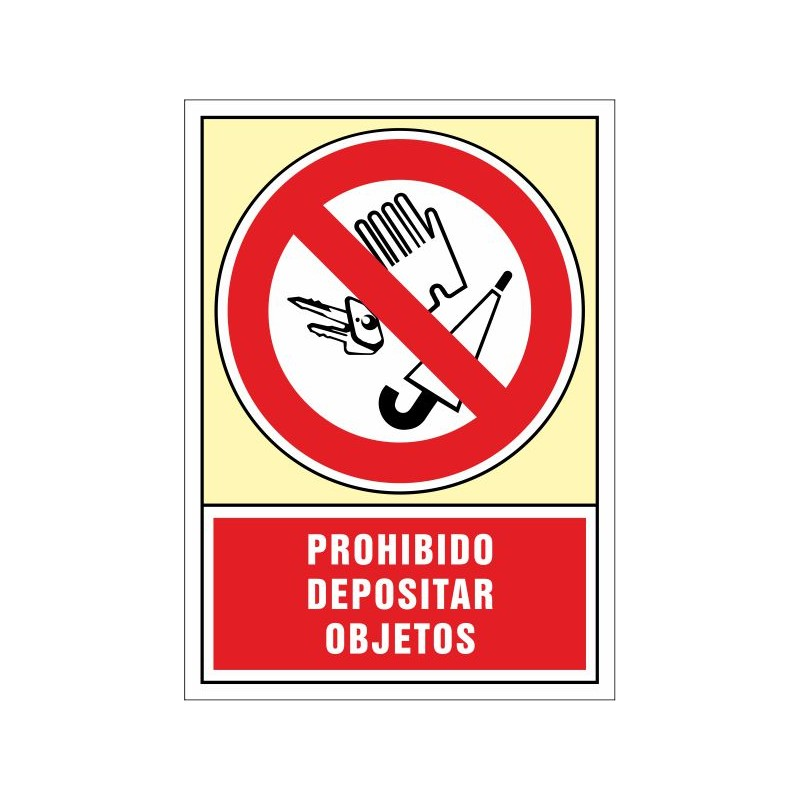 3077S-Señal Prohibido depositar objetos - Referencia 3077S