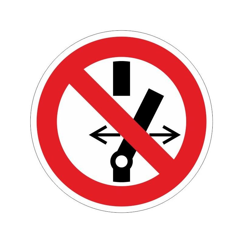 CSA-Disco Prohibido conectar sin autorización - Referencia CSA