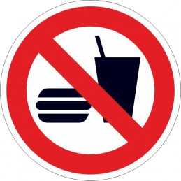 SYSSA, Senyal  Prohibit beure i menjar