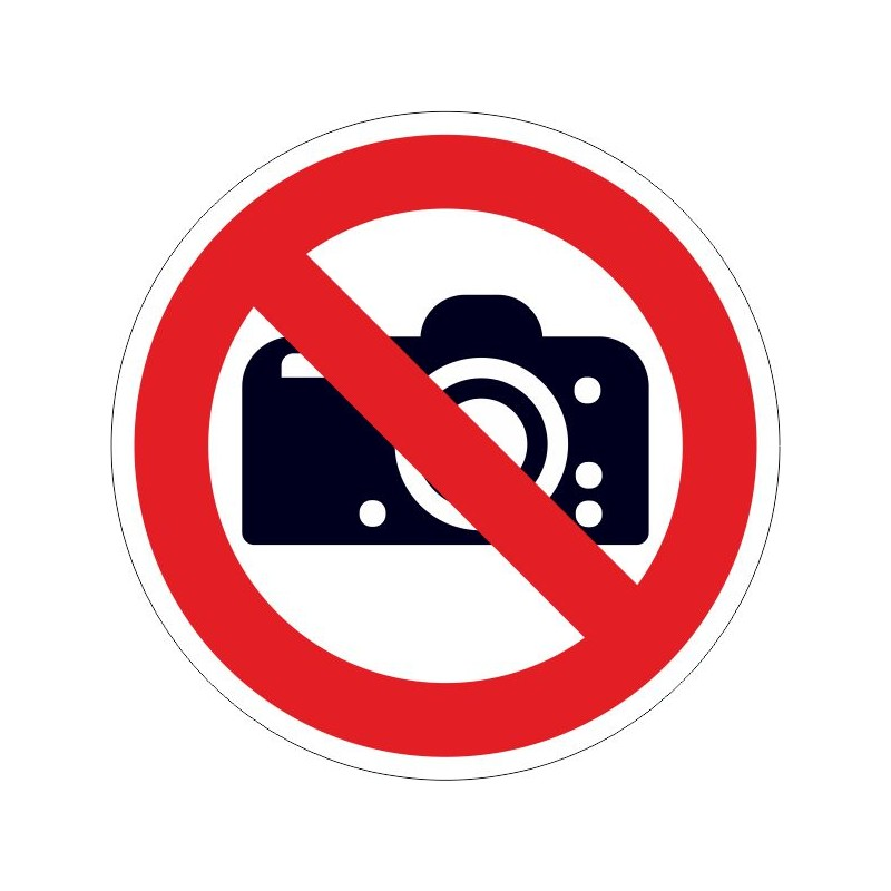 PCFA-Prohibido cámaras fotográficas
