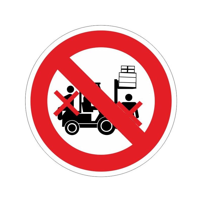 PDC-Disco Prohibido permanecer debajo de la carga - Referencia PDC