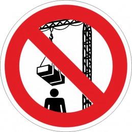 SYSSA, Senyal  Prohibit romandre sota la grua quan esta en funcionamen