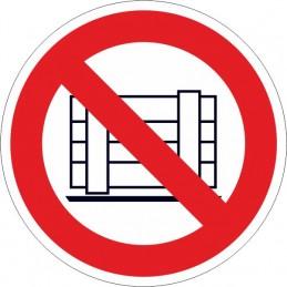 SYSSA,Señal Prohibido depositar materiales, mantener libre el paso