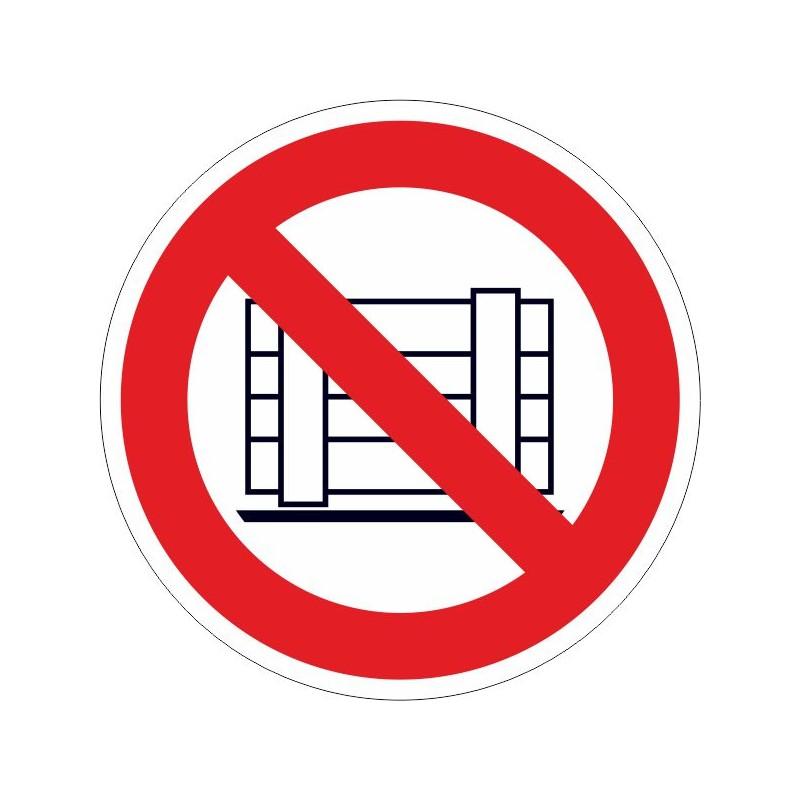 PDM-Disco de Prohibido depositar materiales, mantener libre el paso - Referencia PDM