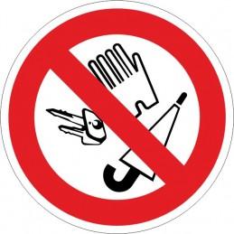SYSSA, Senyal  Prohibit dipositar objectes