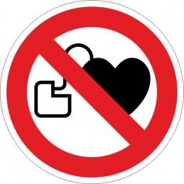 SYSSA,Señal Prohibida la entrada con marcapasos