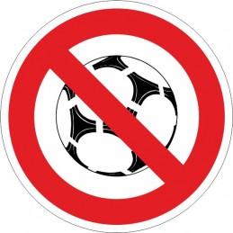 SYSSA,Señal Prohibido jugar con balón