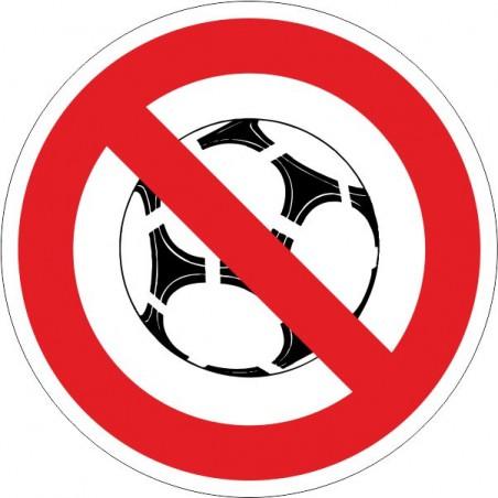 Prohibido jugar con balón