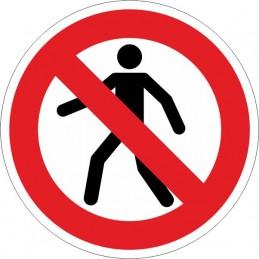 SYSSA,Señal Prohibido el paso de personas