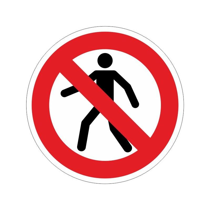PP-Disco de Prohibido el paso de personas - Referencia PP