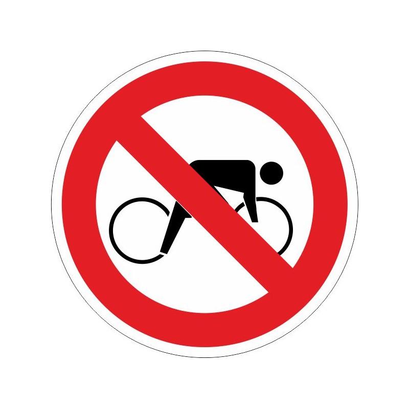 PPB-Disco de Prohibido pasar bicicletas - Referencia PPB