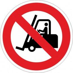 SYSSA,Señal Prohibido pasar carretillas