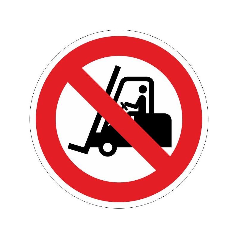 PPC-Disco de Prohibido pasar carretillas - Referencia PPC