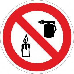 SYSSA, Senyal  Prohibit utilitzar bufadors i introduir flama lliure