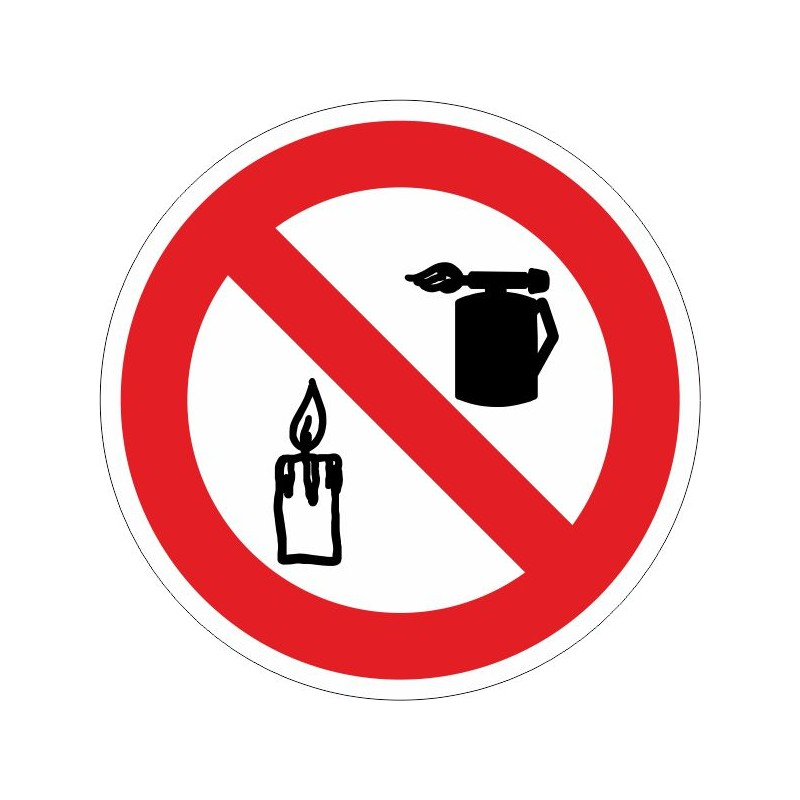 PSLL-Prohibido usar sopletes o introducir llama