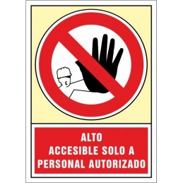 SYSSA,Señal Alto accesible solo a personal autorizado