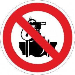 SYSSA,Señal Prohibido tocar la válvula. Exclusivamente personal autori