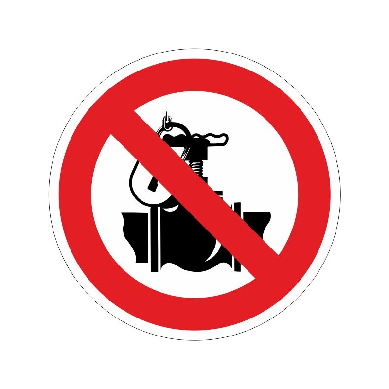 PTV-Prohibido tocar la válvula. Exclusivamente personal autorizado