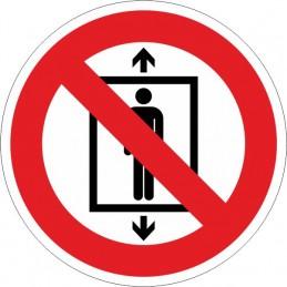 SYSSA,Señal Prohibido a personas utilizar este ascensor