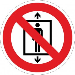 SYSSA, Senyal  Prohibit utilitzar aquest ascensor a persones
