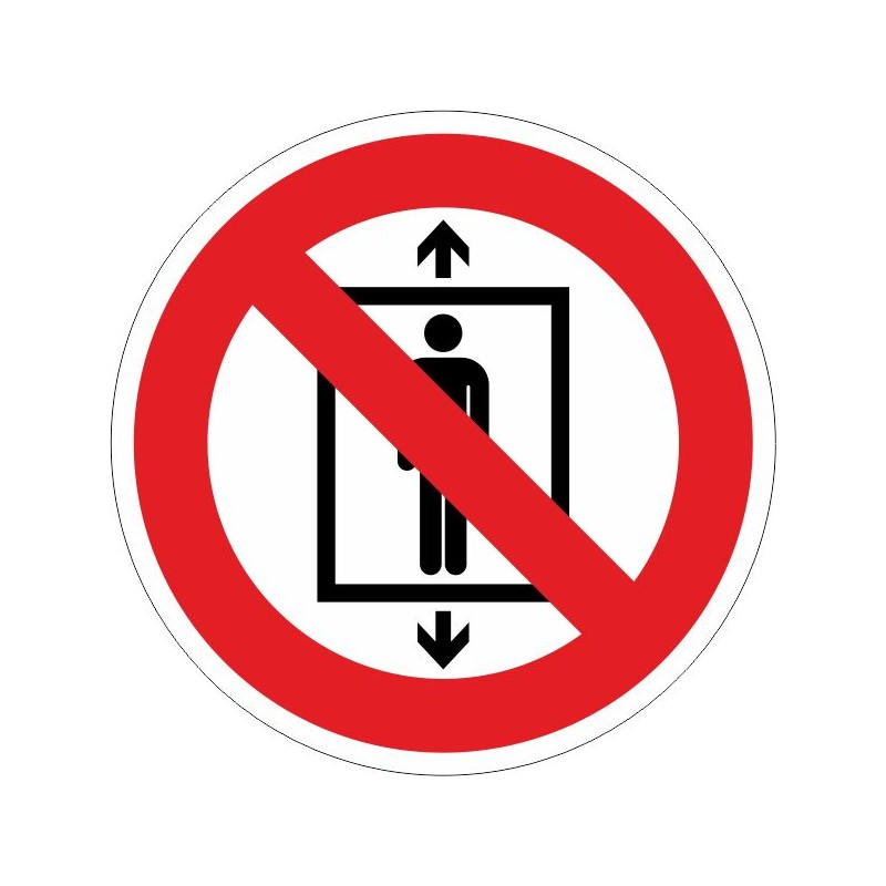 PUA-Disco Prohibido a personas utilizar este ascensor - Referencia PUA