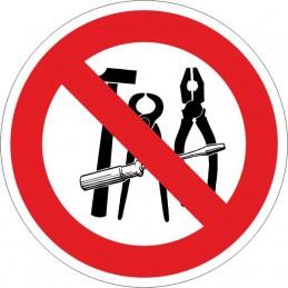 SYSSA,Señal Prohibido el uso de herramientas de acero