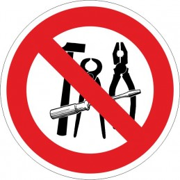 SYSSA, Senyal  Prohibit l'us d'eines d'hacer