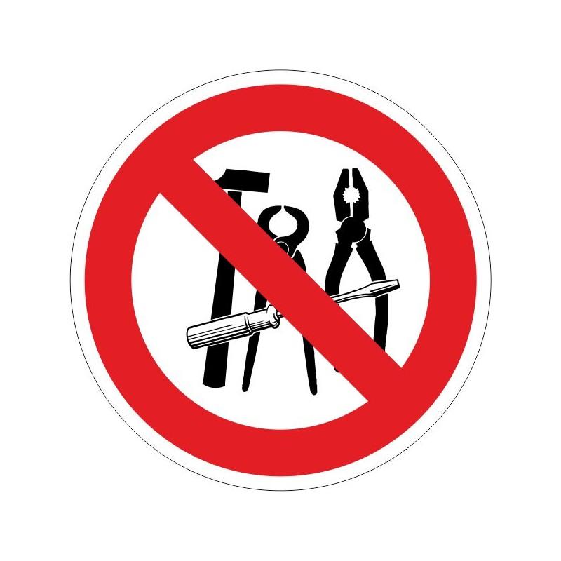 PUHA-Disco Prohibido el uso de herramientas de acero - Referencia PUHA
