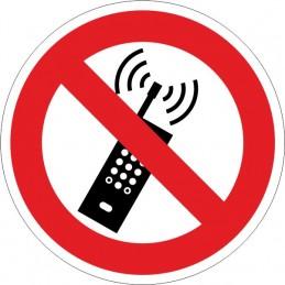 SYSSA, Senyal  Prohibida la utilizació de telefonia mòbil