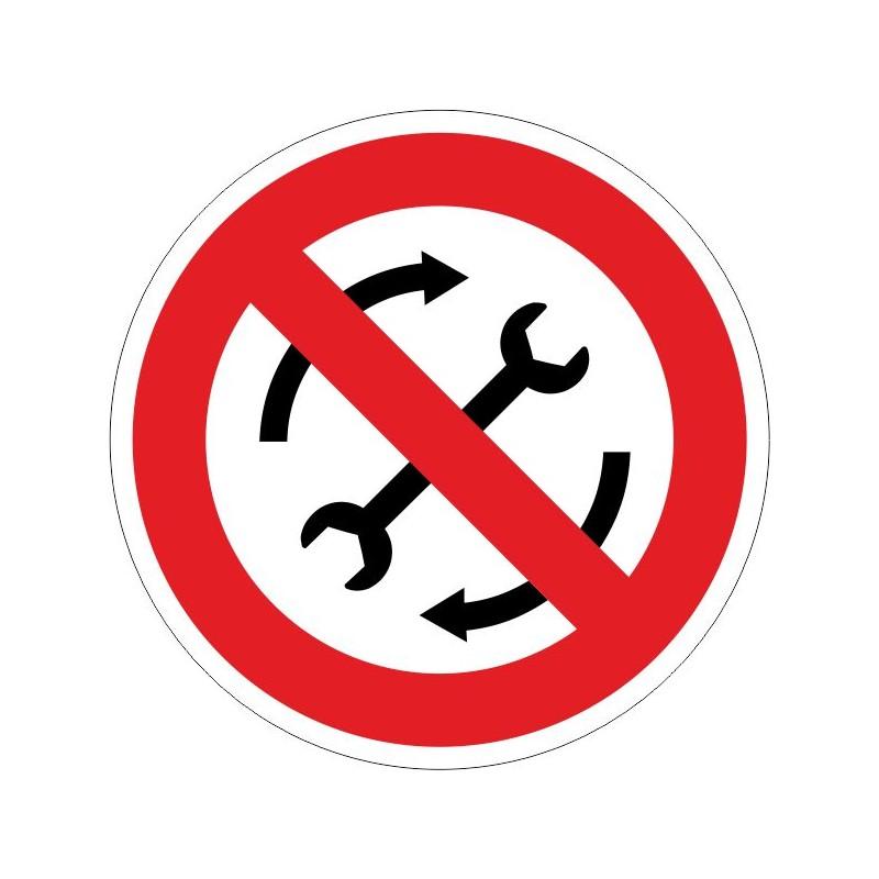 RMF-Prohibit reparar la màquina en funcionament